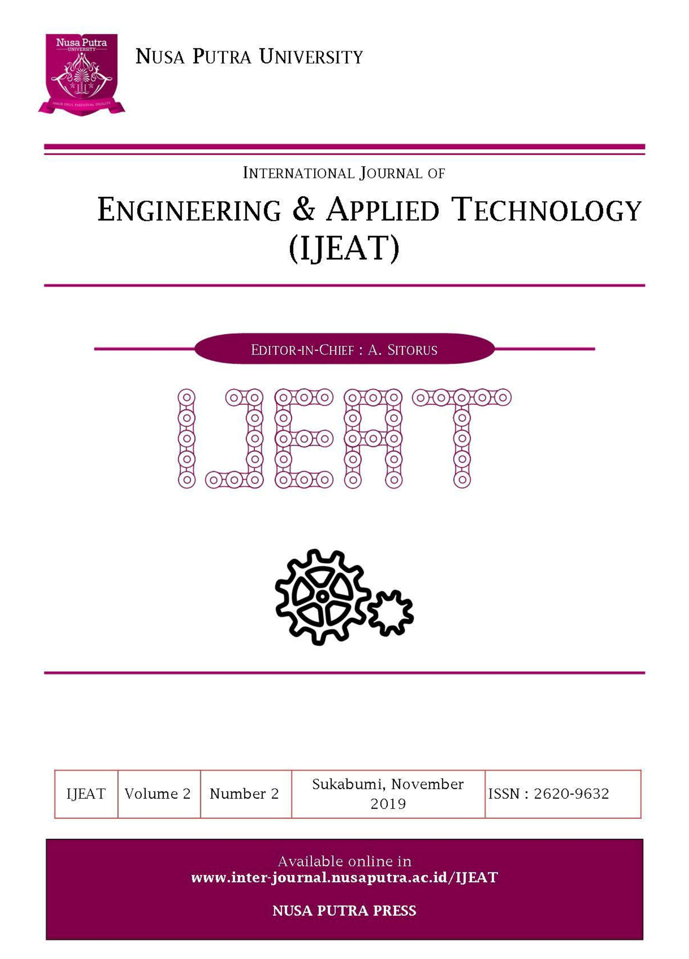 View Vol. 2 No. 2 (2019): International Journal of Engineering and Applied Technology (IJEAT)